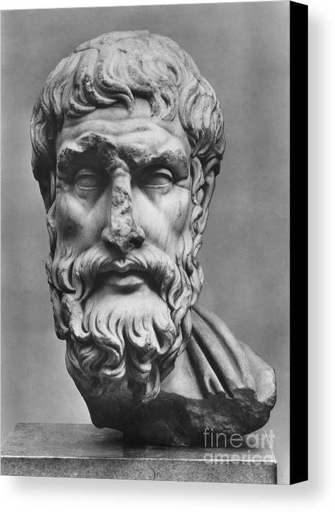 3rd Century B.c Canvas Print featuring the photograph Epicurus (342?-270 B.c.) by Granger