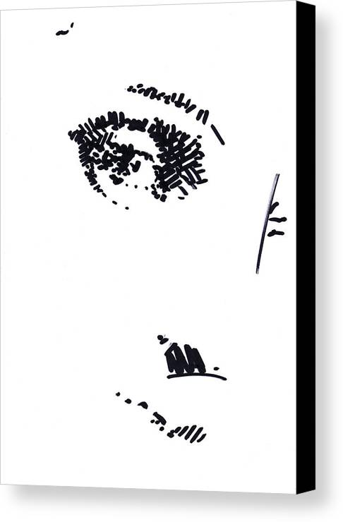 Eye Canvas Print featuring the drawing Eye by Peter Jochems