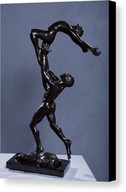 Male And Female Canvas Print featuring the sculpture Flight by Dan Earle