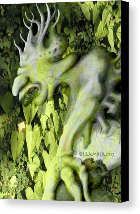 Green Canvas Print featuring the digital art Floater In The Forrest by J P Lambert