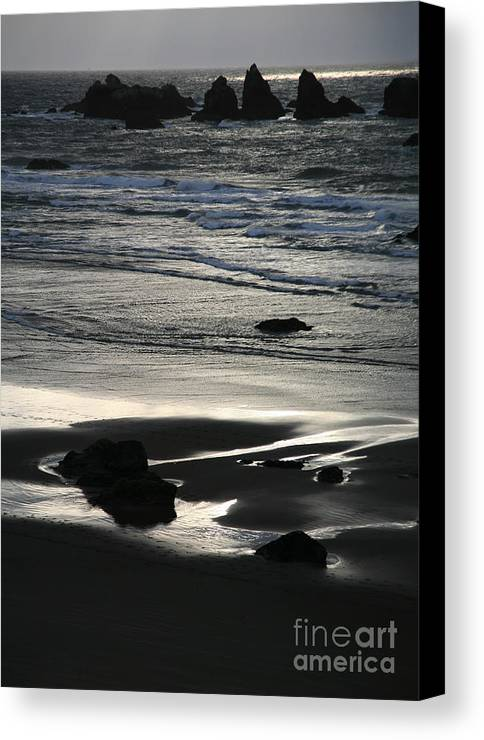 Bandon Canvas Print featuring the photograph Incoming Tide by Timothy Johnson