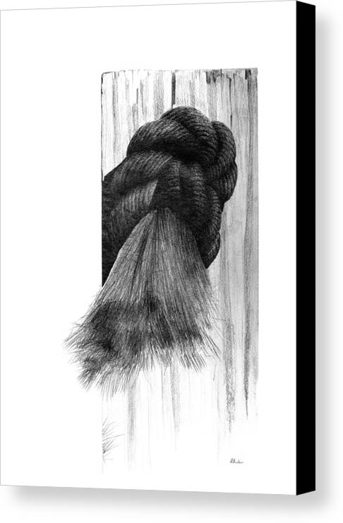 Knot Canvas Print featuring the drawing Knot by Brent Ander