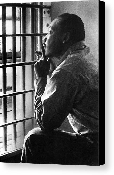 1960s Portraits Canvas Print featuring the photograph Martin Luther King, Jr, Sitting by Everett