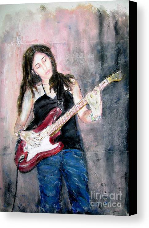 Painting Canvas Print featuring the painting Michal by Sigalit Aharoni