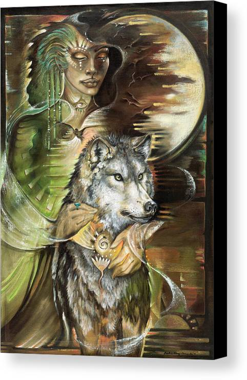 Animals Canvas Print featuring the painting Missing You Susan Boulet by Blaze Warrender