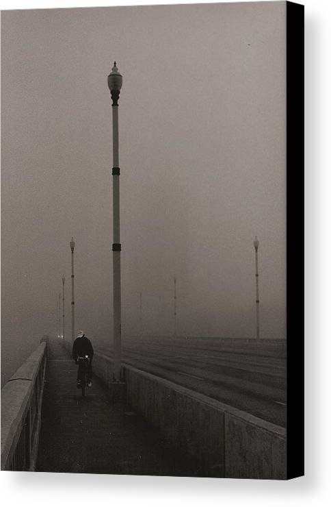 Photo Canvas Print featuring the photograph Morning Cyclist by Arnold Isbister