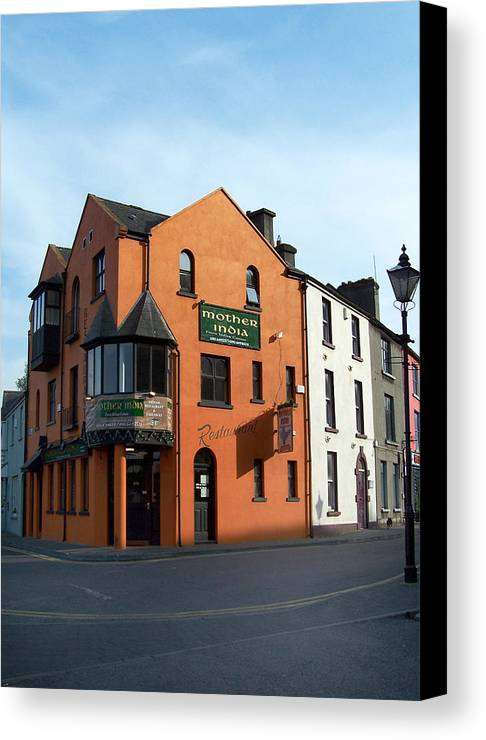 Ireland Canvas Print featuring the photograph Mother India Restaurant Athlone Ireland by Teresa Mucha
