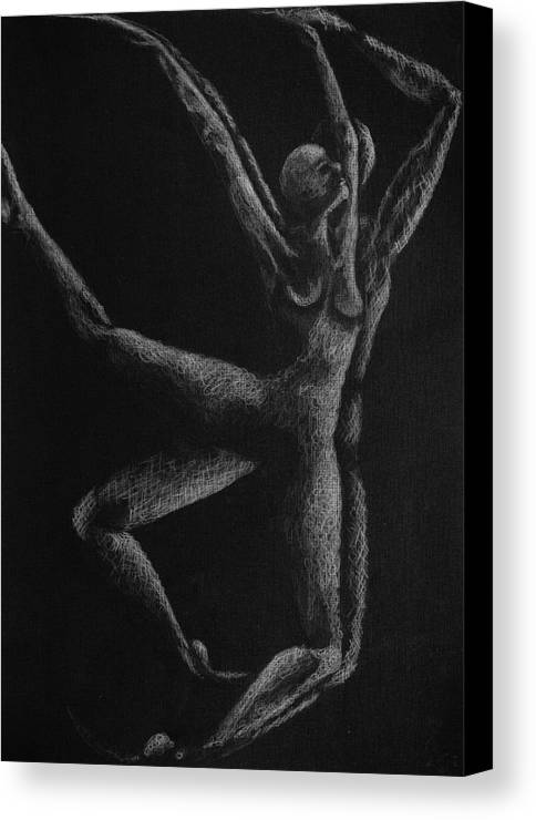 Dancers Canvas Print featuring the drawing n4 of Birds Series by Nani Nogara