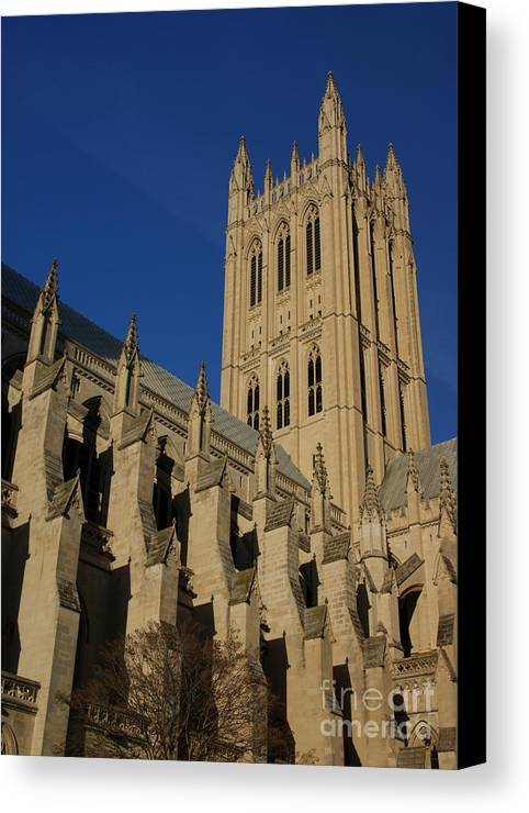 Cathedral Canvas Print featuring the photograph National Cathedral 2 by David Pettit