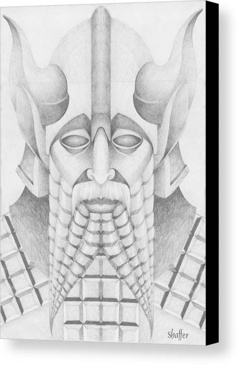 Babylonian Canvas Print featuring the drawing Nebuchadezzar by Curtiss Shaffer