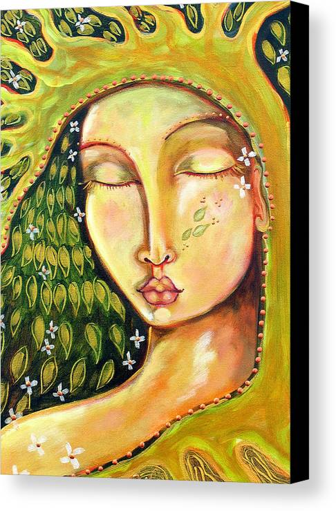 Tree Of Life Canvas Print featuring the painting New Life by Shiloh Sophia McCloud