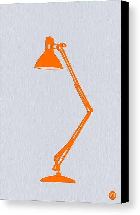 Lamp Canvas Print featuring the photograph Orange Lamp by Naxart Studio