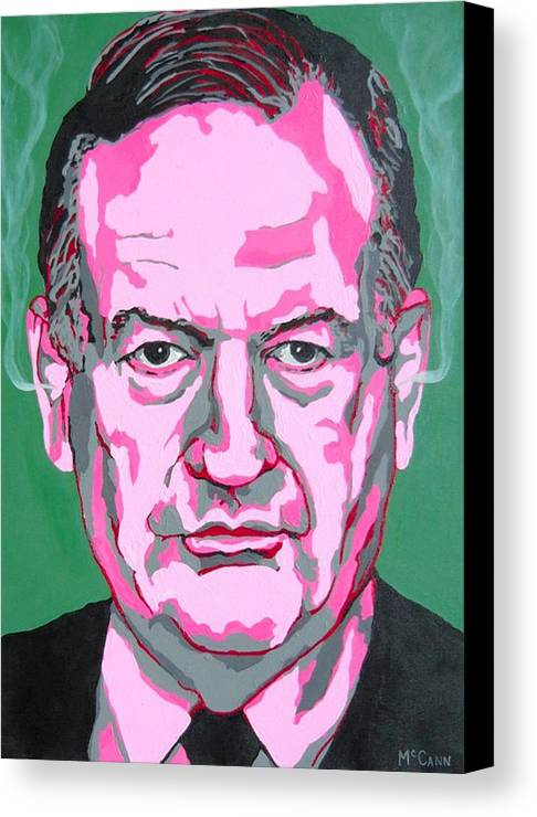 Politics Canvas Print featuring the painting Oreilly by Dennis McCann