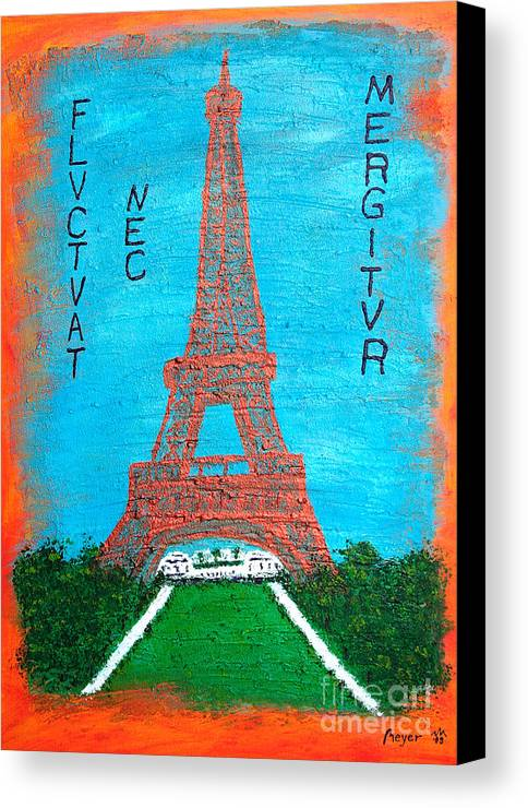 Paris Canvas Print featuring the painting Paris by Sascha Meyer