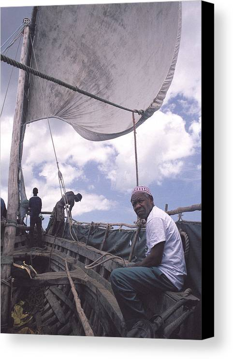 Pemba Island Canvas Print featuring the photograph Pemba Boat by Marcus Best