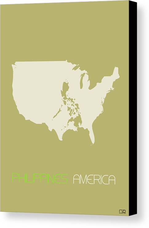 Philippines america poster canvas print canvas art by naxart studio philippines canvas print featuring the digital art philippines america poster by naxart studio gumiabroncs Images