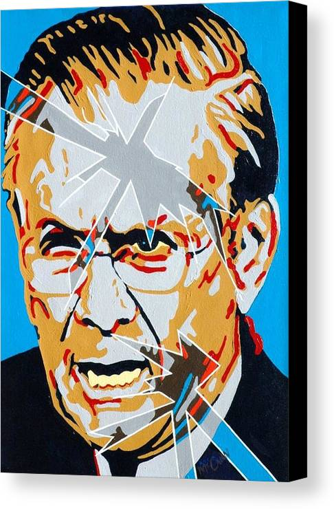 Politics Canvas Print featuring the painting Rumsfeld by Dennis McCann