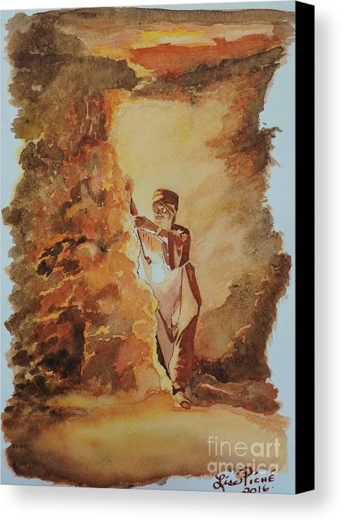 Searching For The Pharaoh's Canvas Print featuring the painting Searching For The Pharaoh's by Lise PICHE