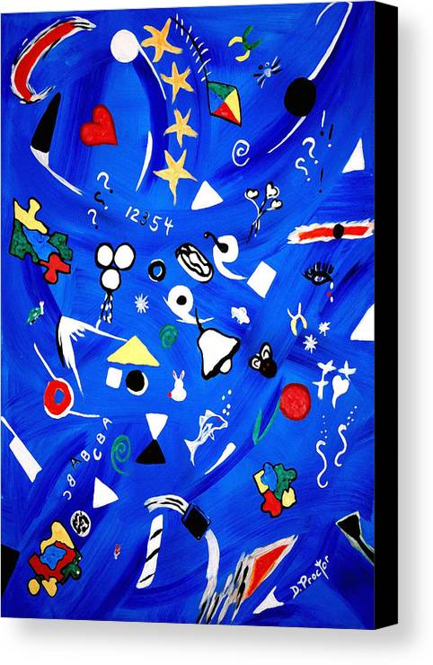 Expressionism Canvas Print featuring the painting Sensory Chaos - Autism by Donna Proctor