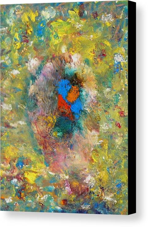 Abstract Canvas Print featuring the painting Shout by Greg Gierlowski
