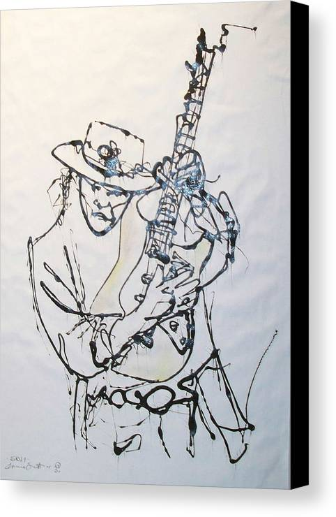 Abstract Canvas Print featuring the drawing Stevie by Ernie Scott- Dust Rising Studios