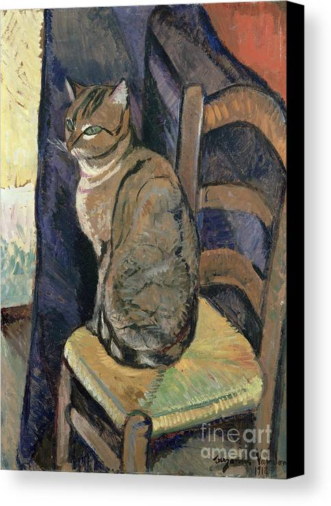 Study Canvas Print featuring the painting Study Of A Cat by Suzanne Valadon