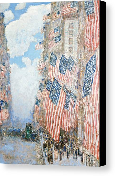 N Canvas Print featuring the painting The Fourth Of July by Childe Hassam