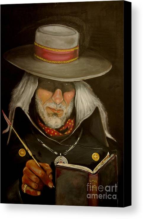 Mistery Canvas Print featuring the painting The Judge by Ricardo dos Reis