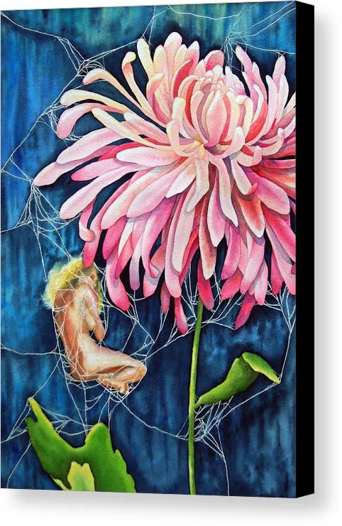 Floral Canvas Print featuring the painting The Tender Trap by Gail Zavala