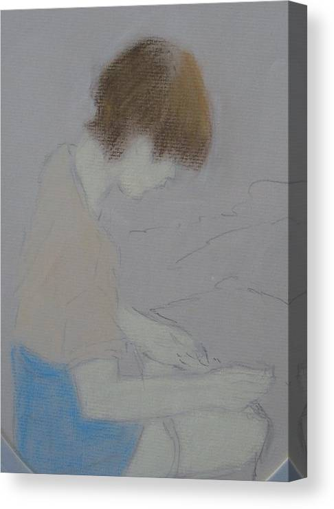 Painting Canvas Print featuring the pastel Expectant by Pat Mullan