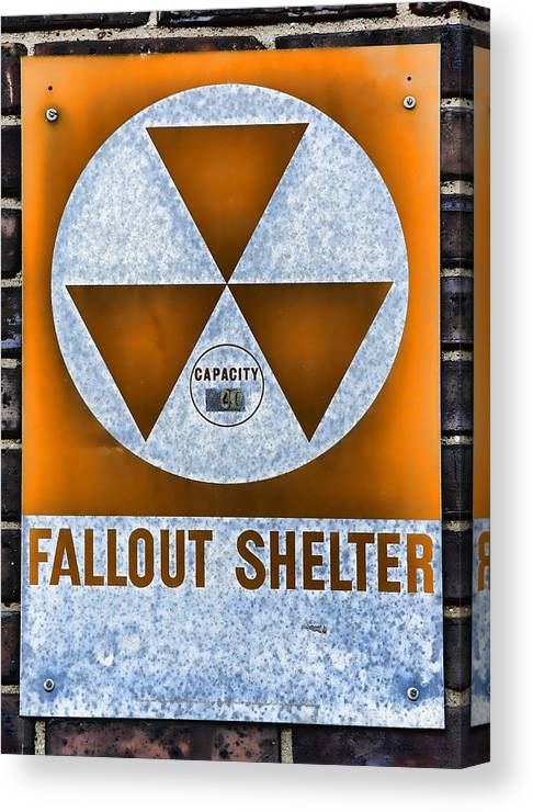 Fallout Canvas Print featuring the photograph Fallout Shelter Wall 8 by Stephen Stookey