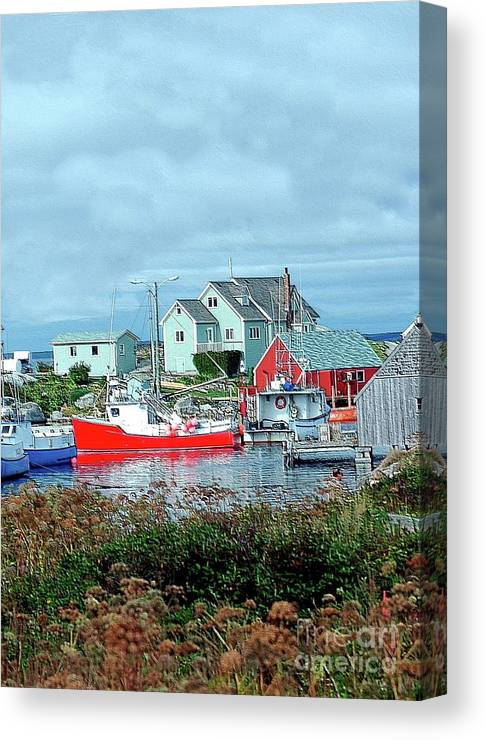 Boat Canvas Print featuring the photograph View Of Cove by Kathleen Struckle