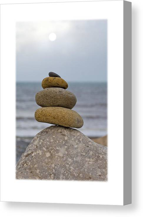 Pebbles Canvas Print featuring the photograph Balancing Pebbles by Mal Bray
