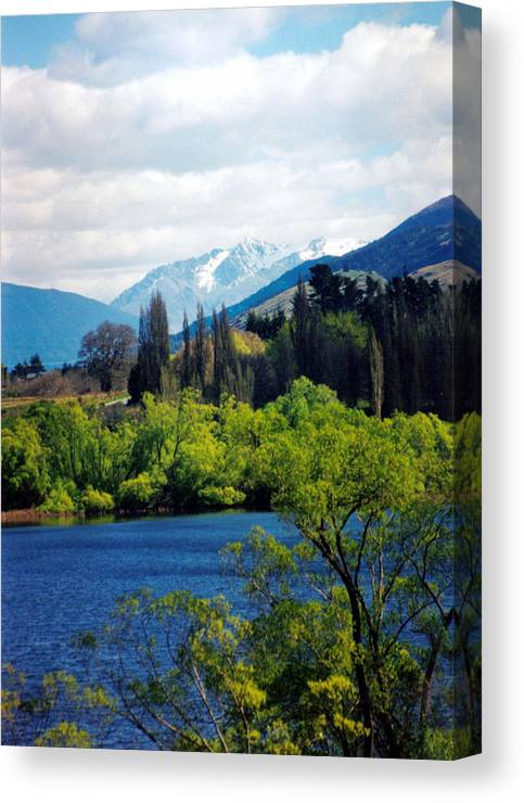 New Zealand Canvas Print featuring the photograph Lake Hayes by Jackie Sherwood