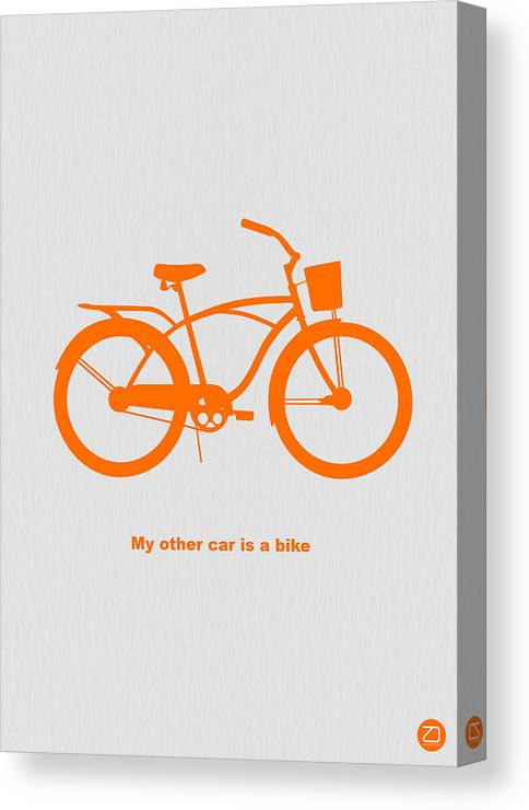 Canvas Print featuring the photograph My Other Car Is Bike by Naxart Studio