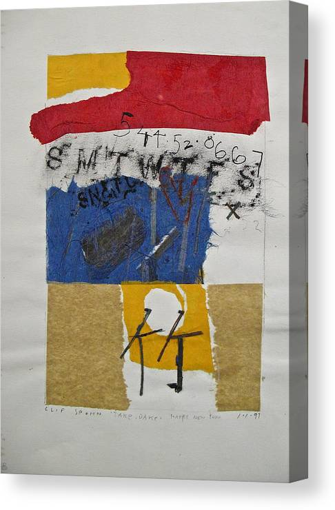 Abstract Paintings Canvas Print featuring the drawing Sketchbook 1 Pg 35 by Cliff Spohn