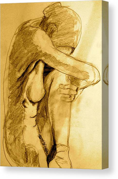 Sketcht Canvas Print featuring the drawing Studio Sketch by Dan Earle