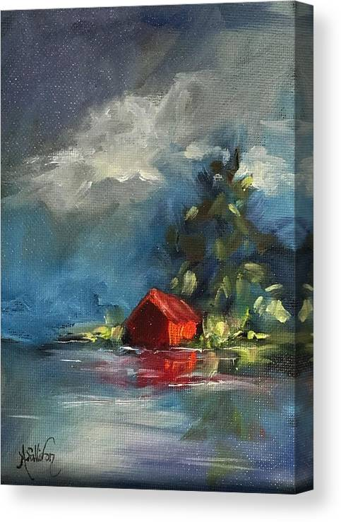 Barn Canvas Print featuring the painting Dreams Realy Do Come True by Angela Sullivan
