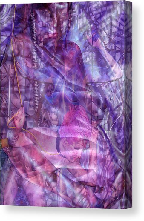 Body Paint Canvas Print featuring the painting Embryotic Dreaming by Leigh Odom