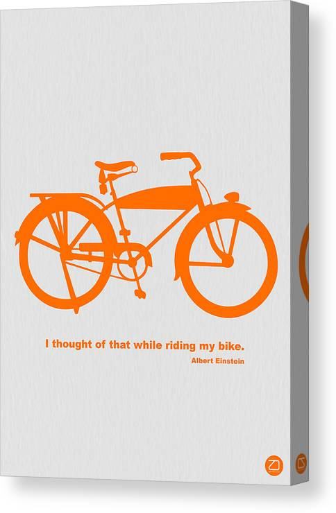 Canvas Print featuring the photograph I Thought Of That While Riding My Bike by Naxart Studio