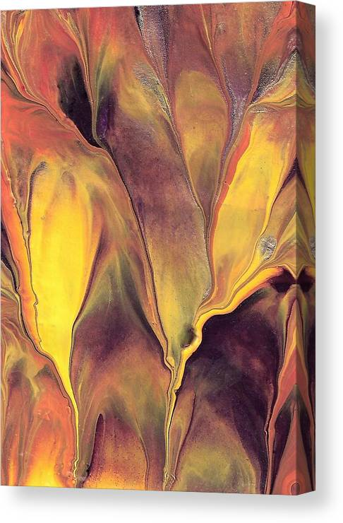Hot Canvas Print featuring the painting Mystic Fire 1 by Linda Stevenson