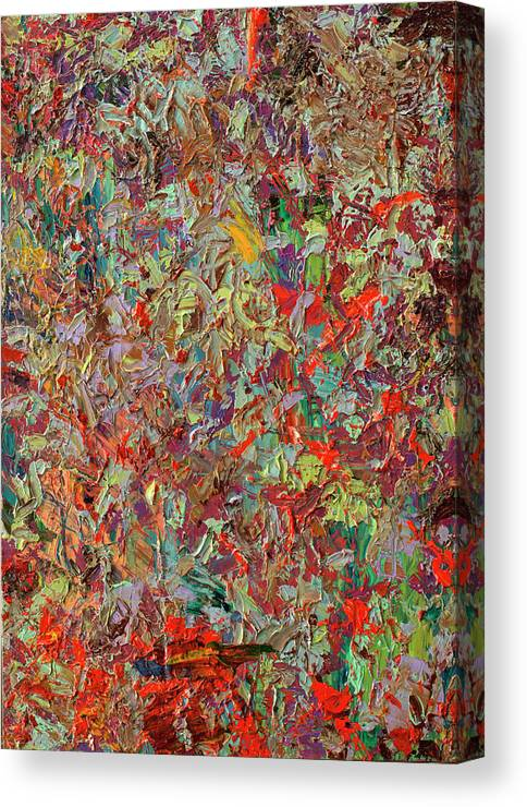 Abstract Canvas Print featuring the painting Paint Number 33 by James W Johnson