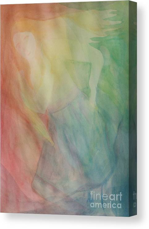 Rainbow Canvas Print featuring the painting Rainbow Dancer by Nicole Besack