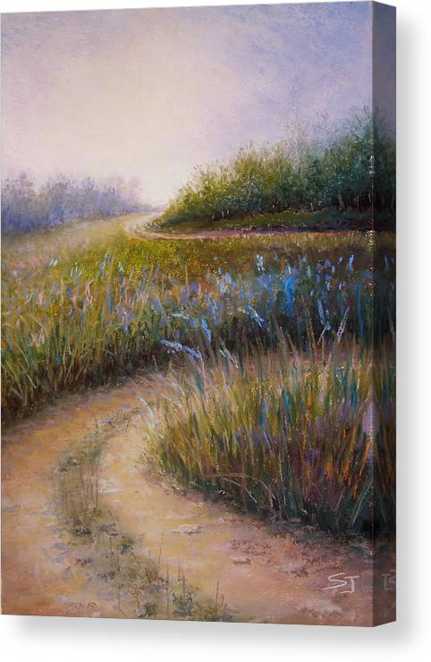 Lanscape Canvas Print featuring the painting Wildflower Road by Susan Jenkins
