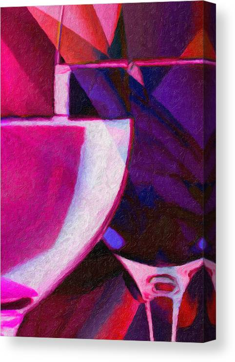 Wine Glass Canvas Print featuring the painting Wine Glass 1 by Patto B
