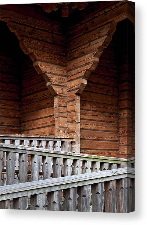 Church Canvas Print featuring the photograph Zigzag by Murray Bloom