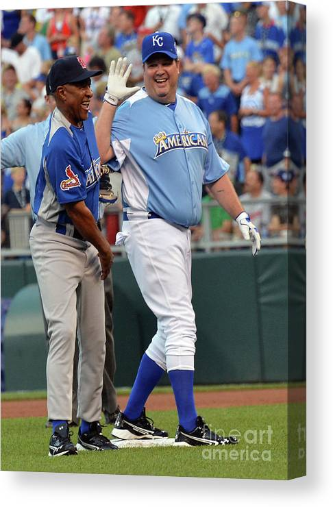 Softball Canvas Print featuring the photograph 2012 Taco Bell All-star Legends & 1 by Rick Diamond