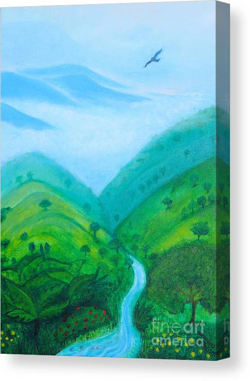 Medellín Canvas Print featuring the painting Medellin Natural by Gabrielle Wilson-Sealy