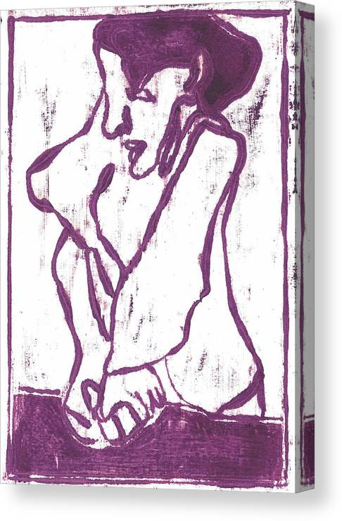 Purple Canvas Print featuring the painting Purple Chef by Edgeworth DotBlog