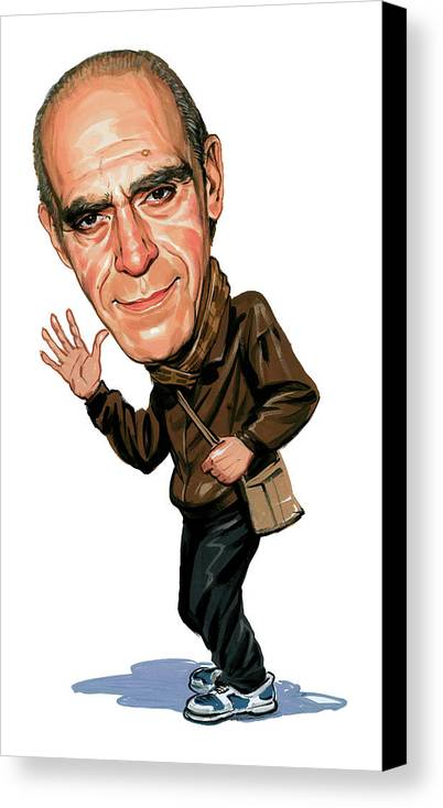 Abe Vigoda Canvas Print featuring the painting Abe Vigoda by Art